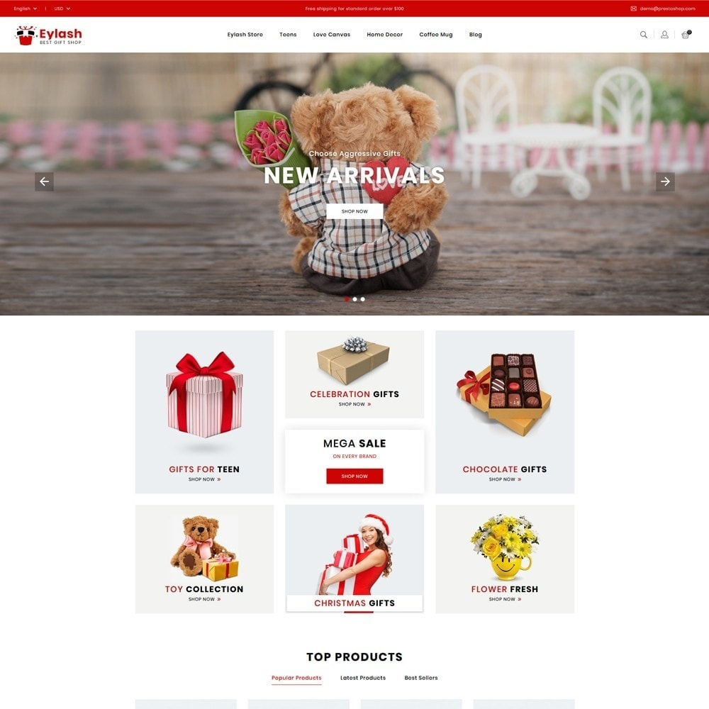theme - Gifts, Flowers & Celebrations - Eylash Gifts Shop - 2