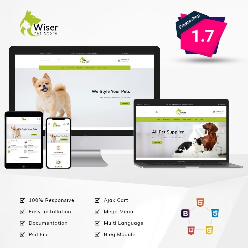theme - Animales y Mascotas - Wiser Pets Store - 1