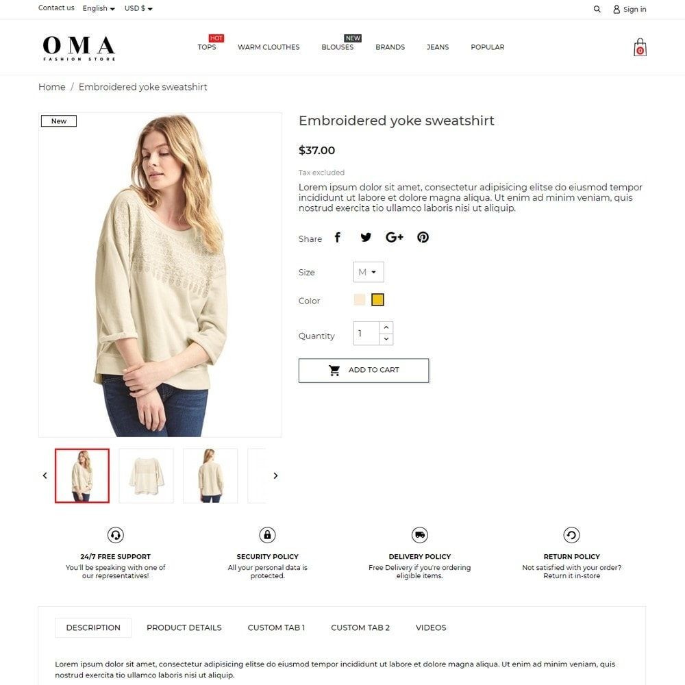 theme - Fashion & Shoes - Oma Fashion Store - 5