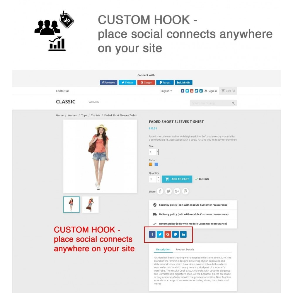 module - Social Network Coupon - Social Login - Paypal, Google, Twitter, LinkedIn, ... - 11