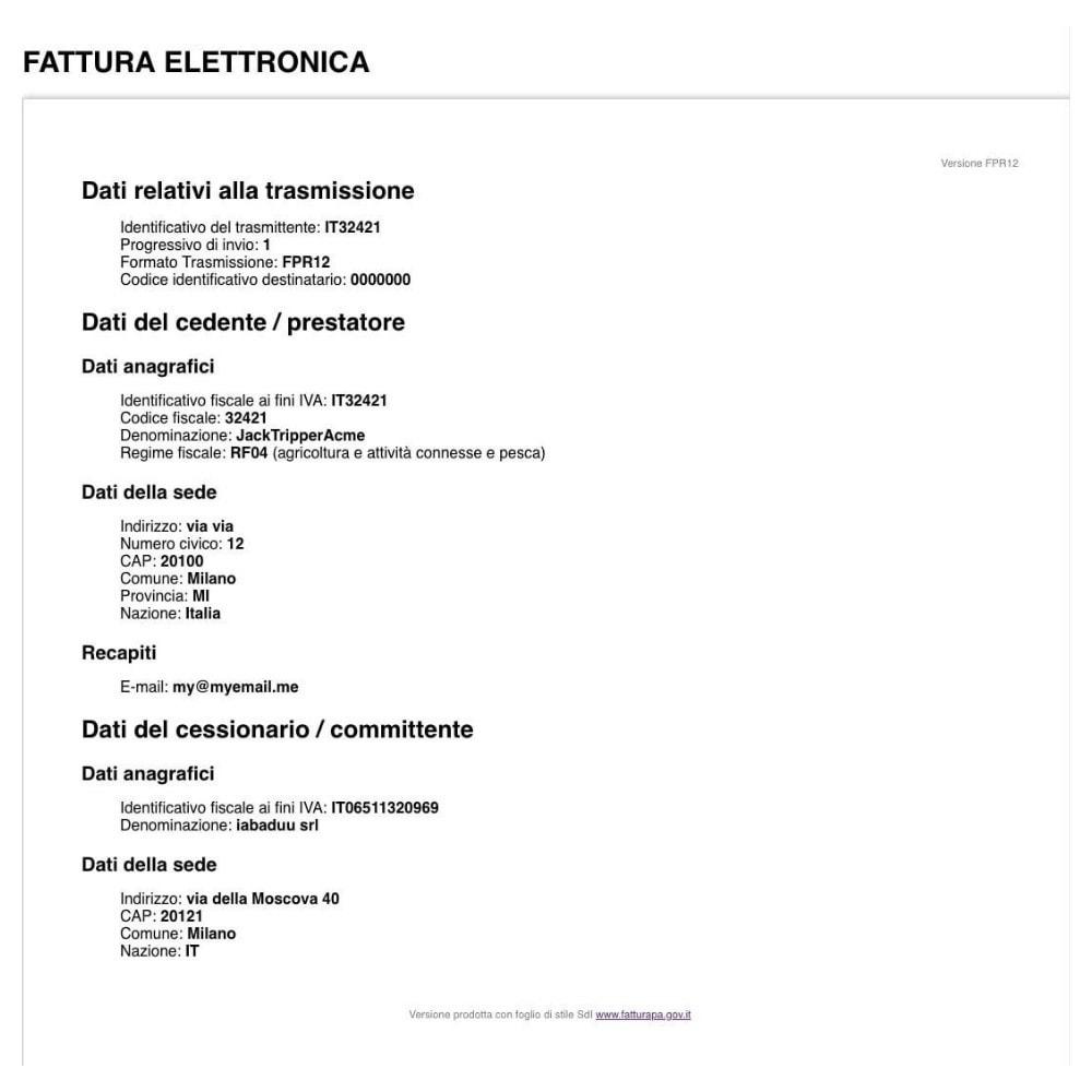module - Contabilità & Fatturazione - Fattura Elettronica - 2
