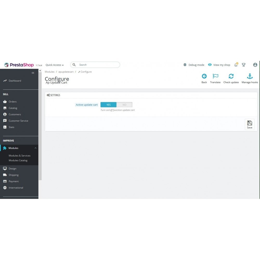 module - Registration & Ordering Process - Ap Update Cart - 2