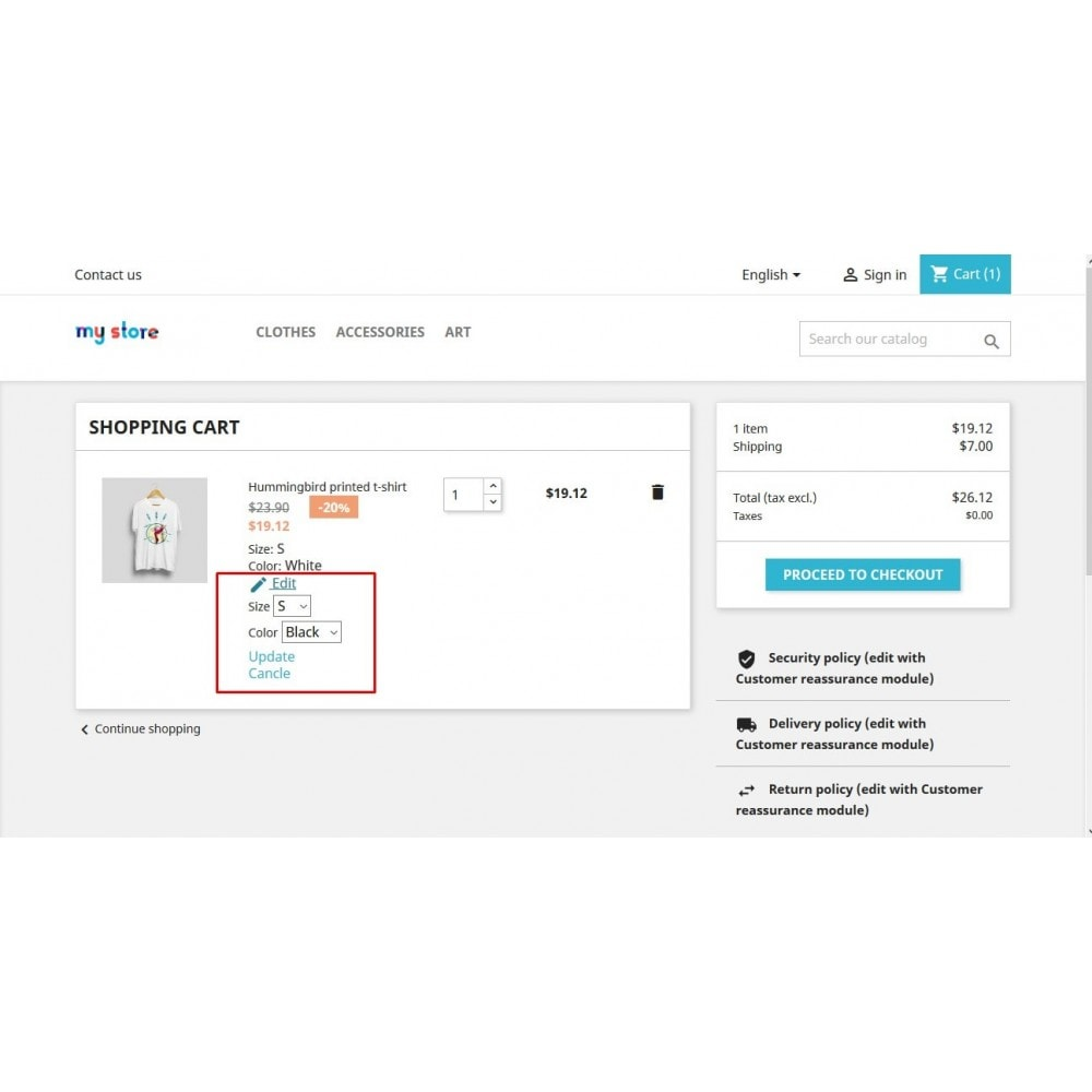 module - Registration & Ordering Process - Ap Update Cart - 3