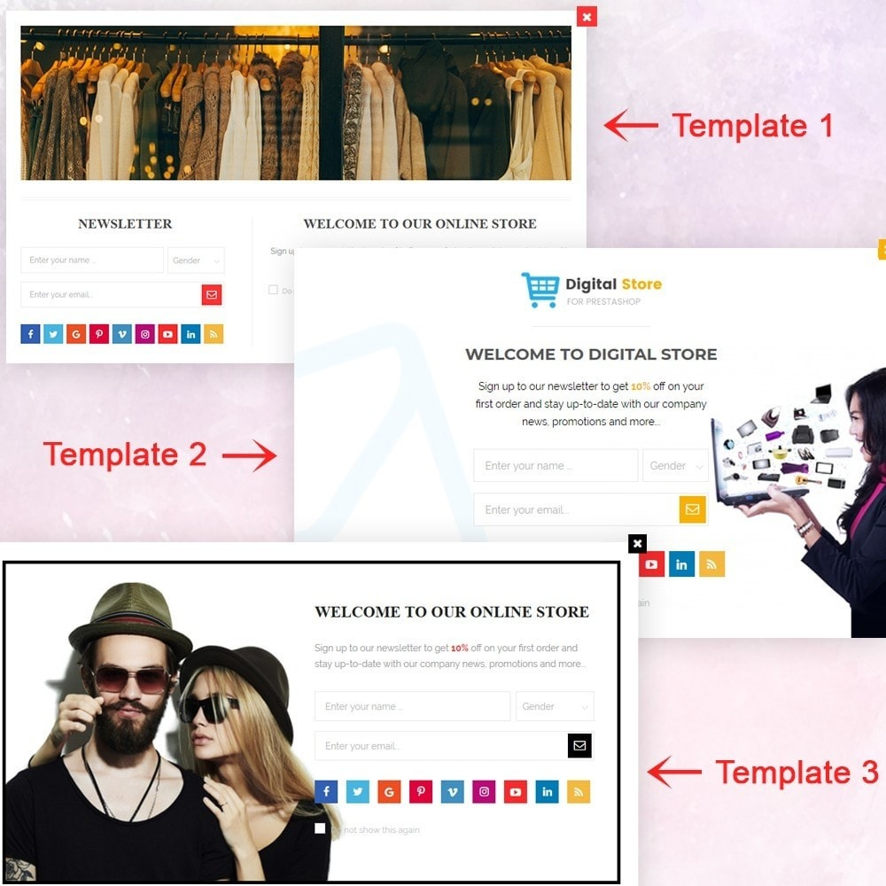 module - Dialoogvensters & Pop-ups - Responsive newsletter popup - 2
