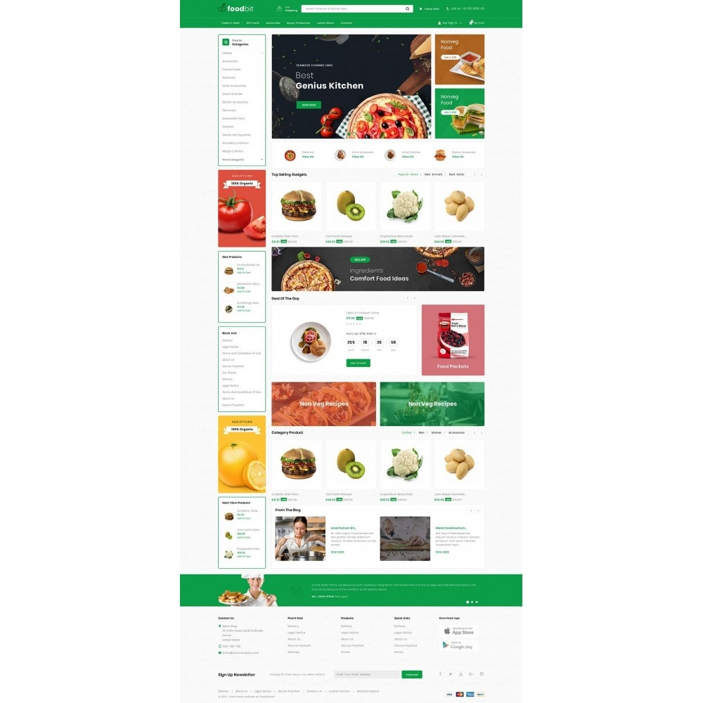 theme - Food & Restaurant - Foodbit - Vegetable Market - 2