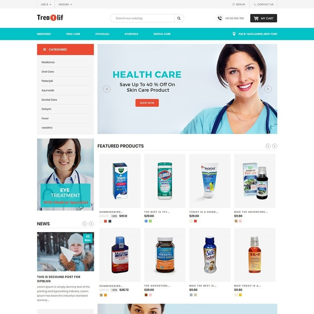 theme - Health & Beauty - Treat Life  - Medical Drug Store - 2
