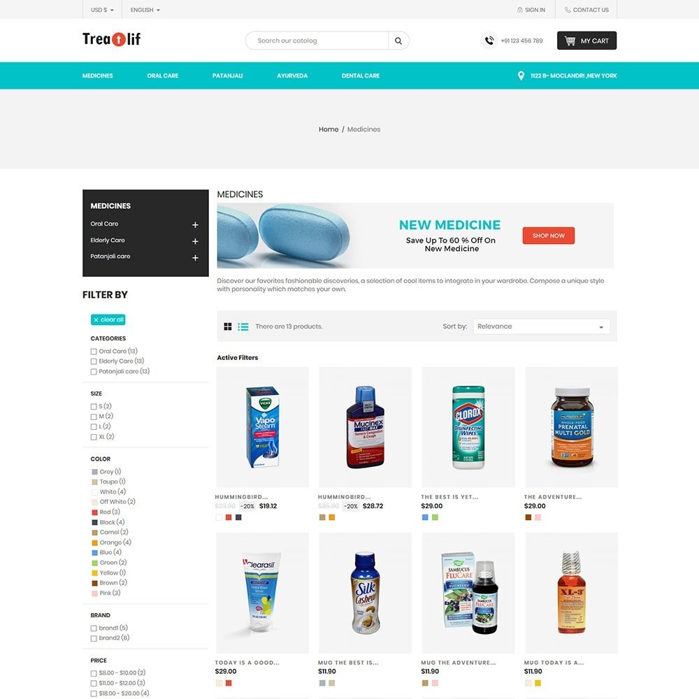 theme - Health & Beauty - Treat Life  - Medical Drug Store - 4