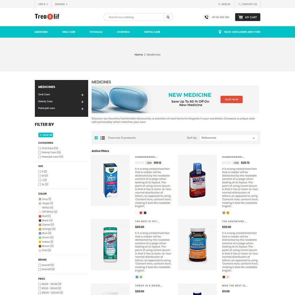 theme - Health & Beauty - Treat Life  - Medical Drug Store - 5