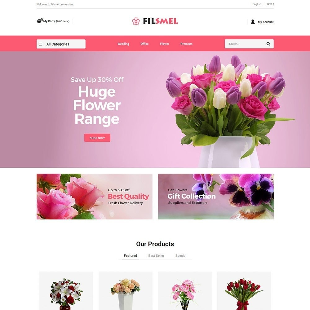 theme - Gifts, Flowers & Celebrations - Fil Smel Gift - Flower Store - 1