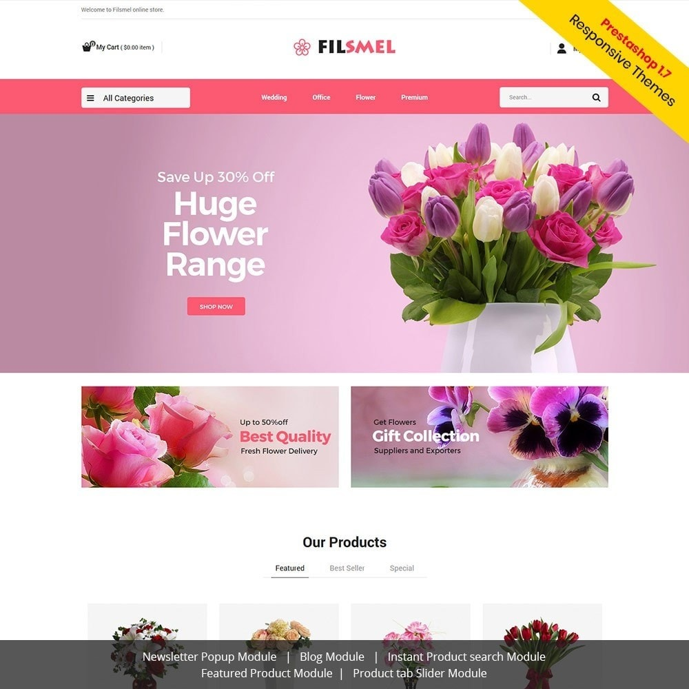 theme - Gifts, Flowers & Celebrations - Fil Smel Gift - Flower Store - 2