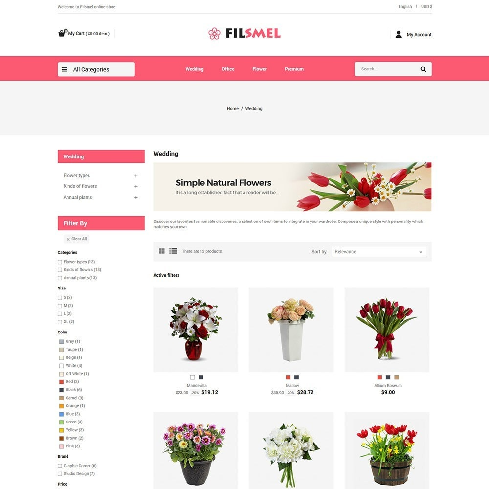 theme - Gifts, Flowers & Celebrations - Fil Smel Gift - Flower Store - 3