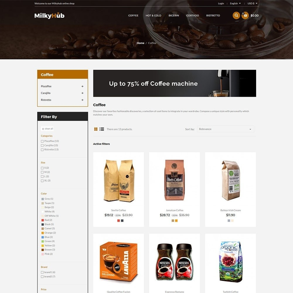 theme - Food & Restaurant - Milkyhub Drink -Coffee Store - 3