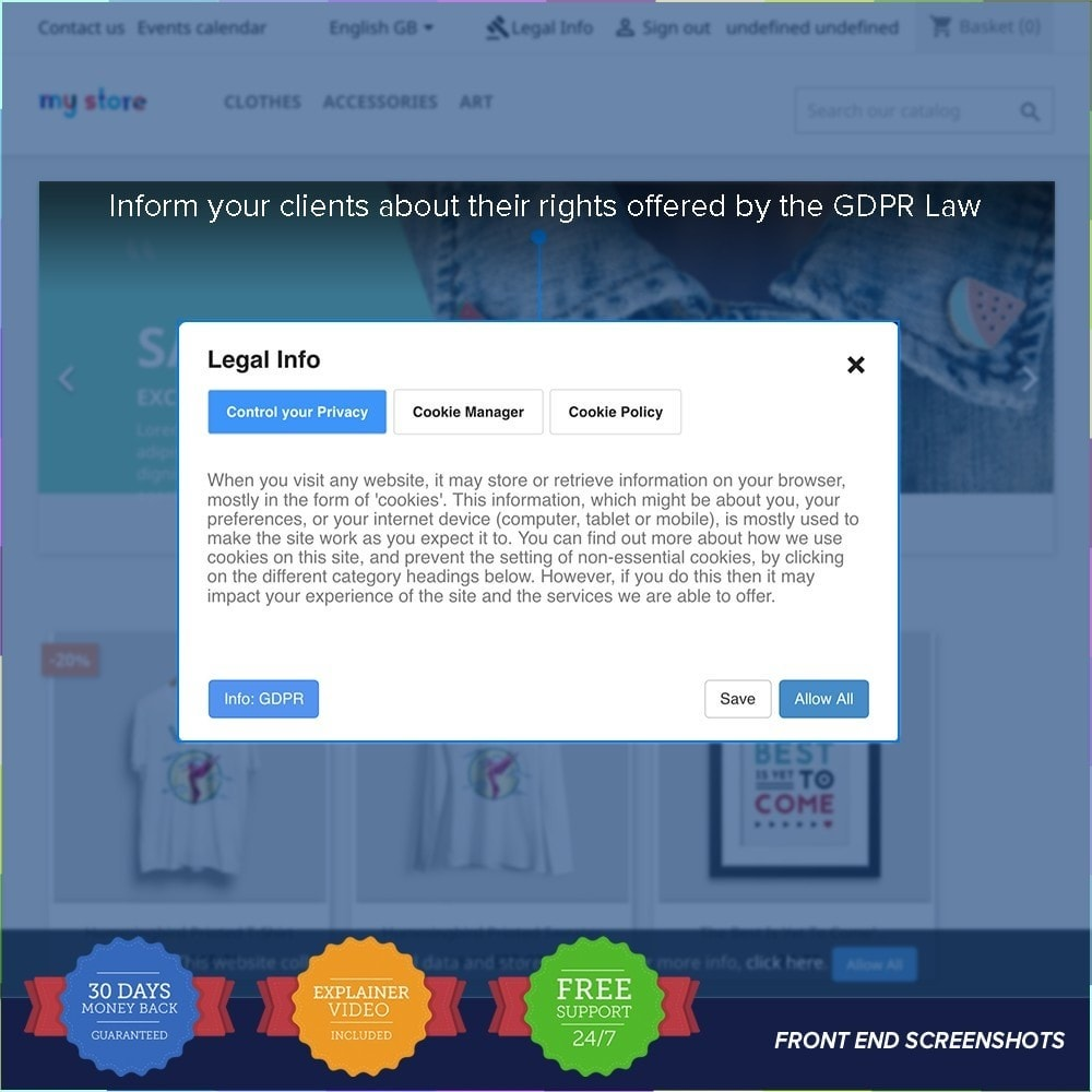module - Legal - EU GDPR - General Data Protection Regulation - 10