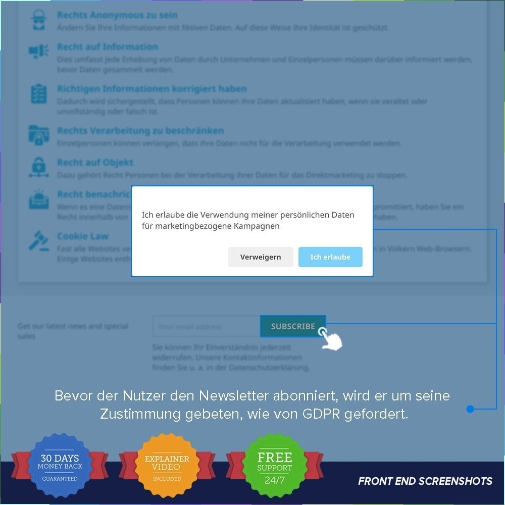 bundle - Rechtssicherheit - Starter Kit - GDPR, One Click SSL, One Signal Push - 13