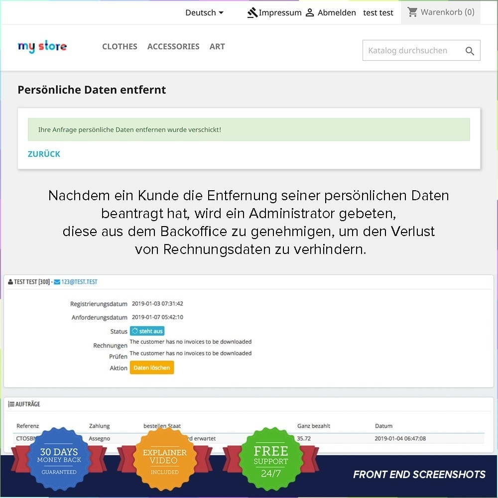 bundle - Rechtssicherheit - Starter Kit - GDPR, One Click SSL, One Signal Push - 23