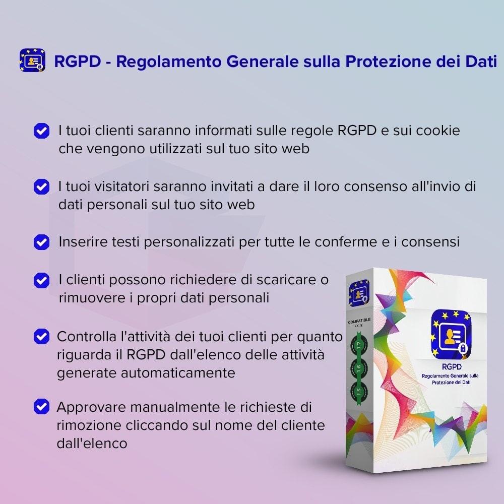module - Legale (Legge Europea) - GDPR UE–Regolamento Generale sulla Protezione dei Dati - 1