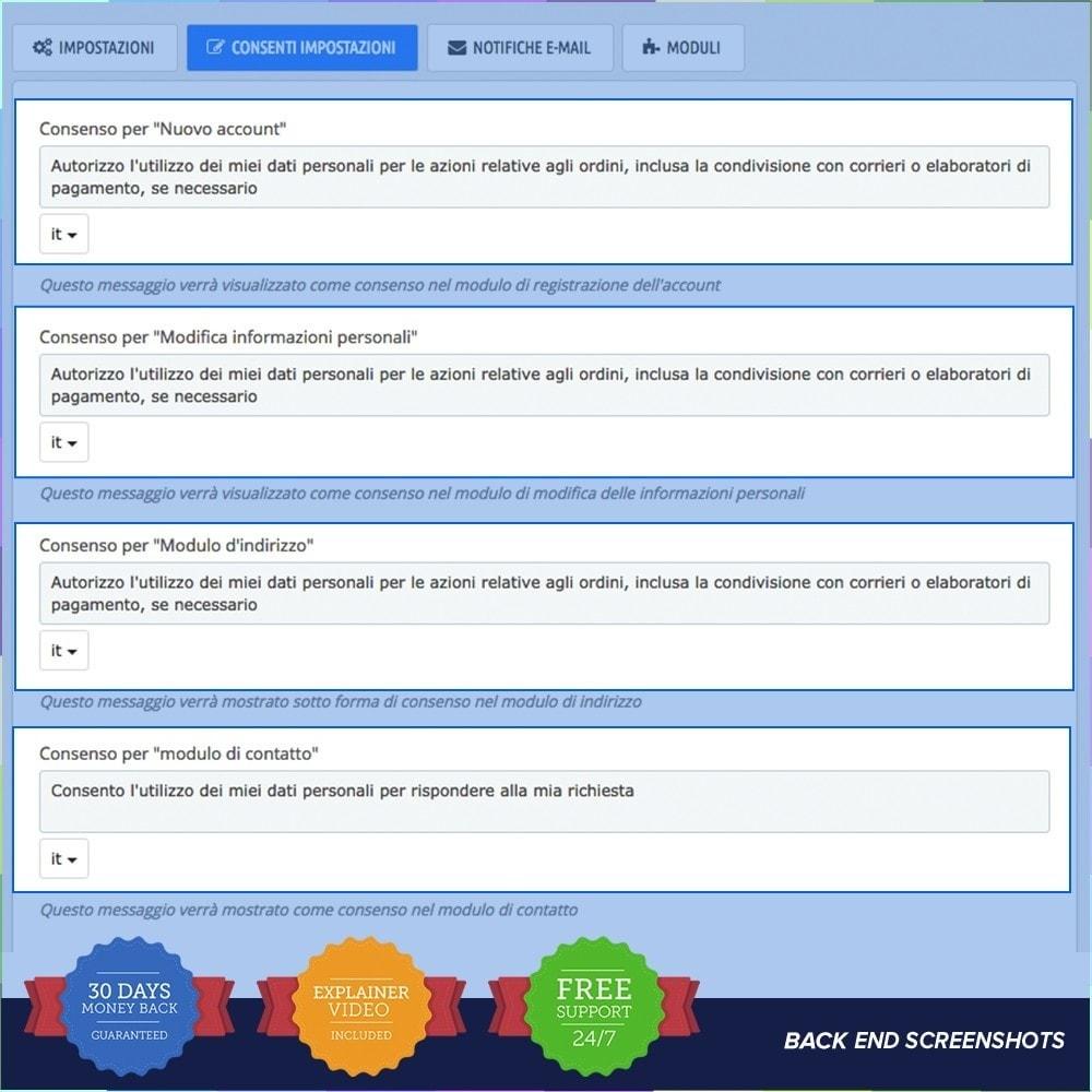 module - Legale (Legge Europea) - GDPR UE–Regolamento Generale sulla Protezione dei Dati - 4