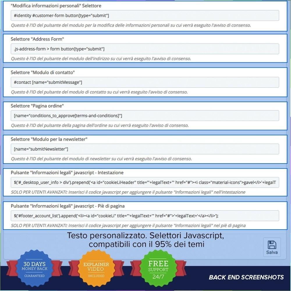 module - Legale (Legge Europea) - GDPR UE–Regolamento Generale sulla Protezione dei Dati - 5