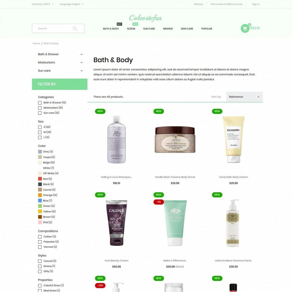 theme - Health & Beauty - Coleostefus Cosmetics - 5