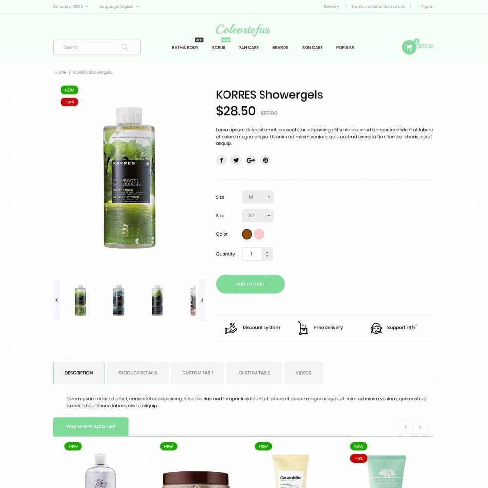 theme - Health & Beauty - Coleostefus Cosmetics - 6