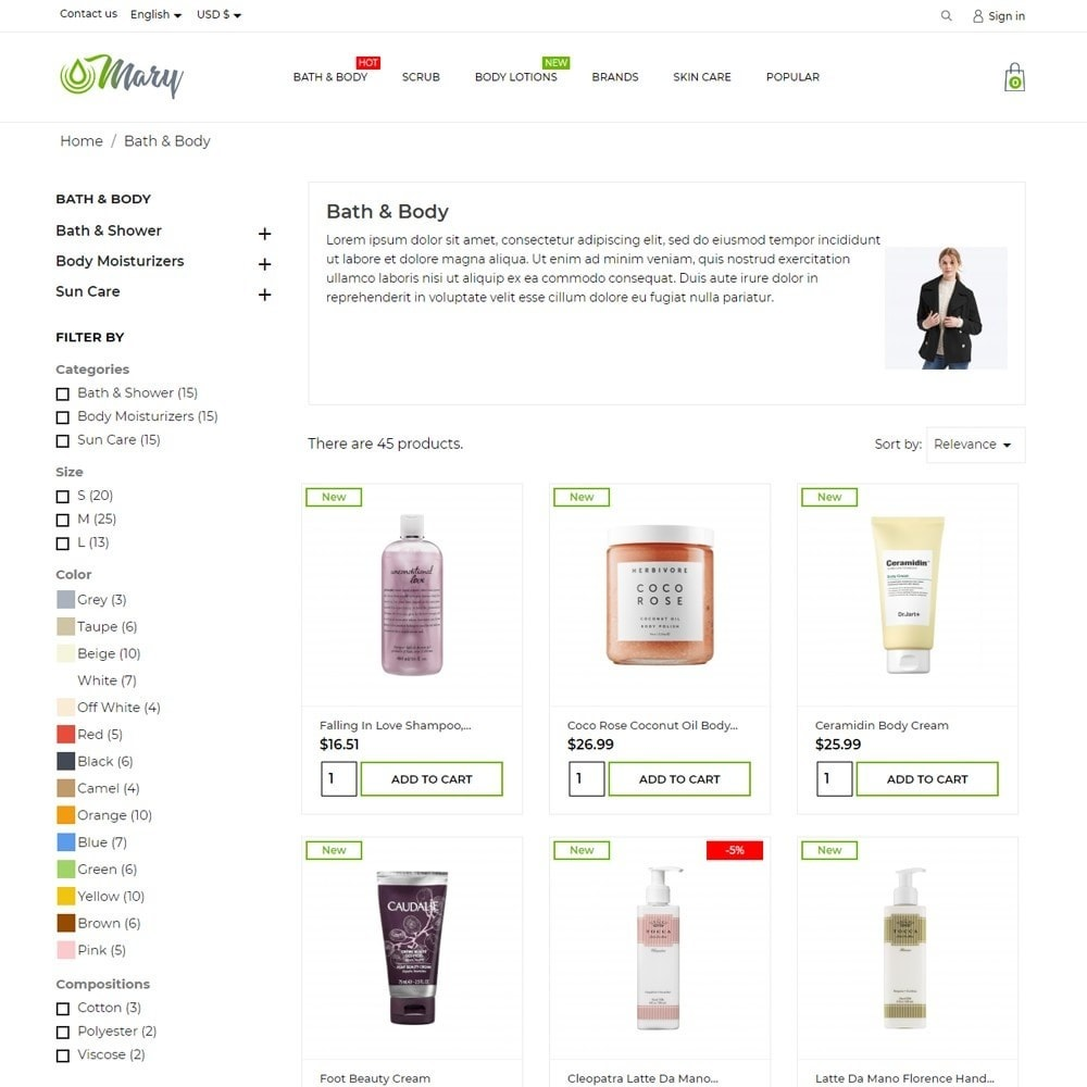 theme - Health & Beauty - Mary Cosmetics - 6