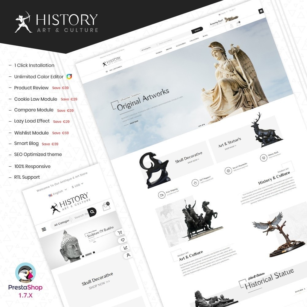 theme - Kultura & Sztuka - Art & Sculpture Store Template - 1