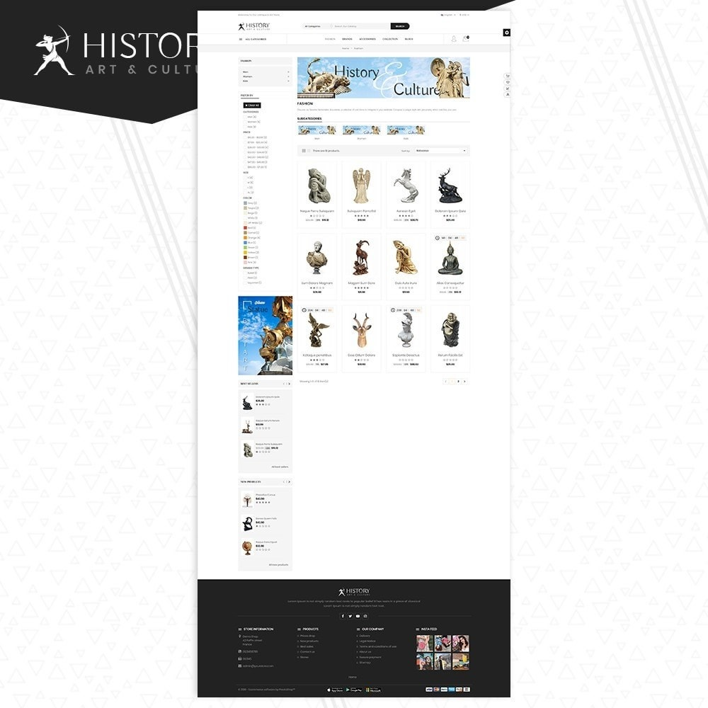 theme - Kultura & Sztuka - Art & Sculpture Store Template - 3
