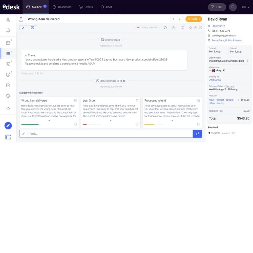 module - Servizio post-vendita - eDesk by xSellco - 2