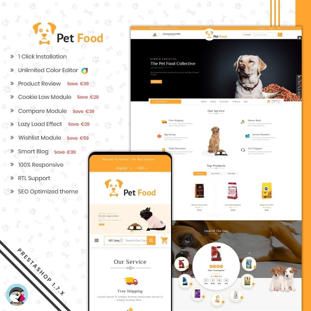 theme - Animals & Pets - PetFood Store - 1