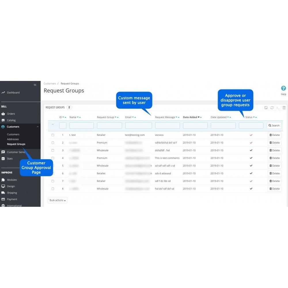 module - Registration & Ordering Process - Extended Registration - Choose Customer Group on Signup - 2