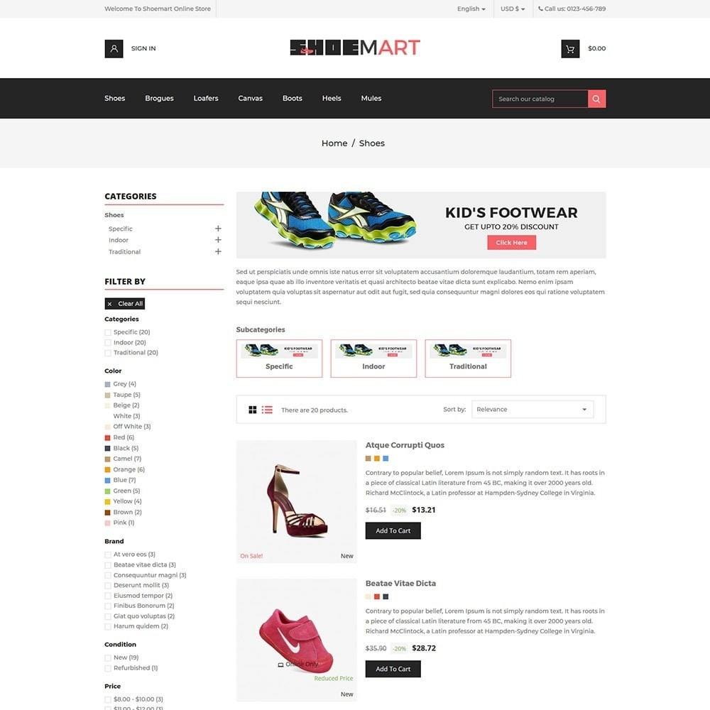 theme - Mode & Chaussures - Shoemart - Shoes Online Store - 4