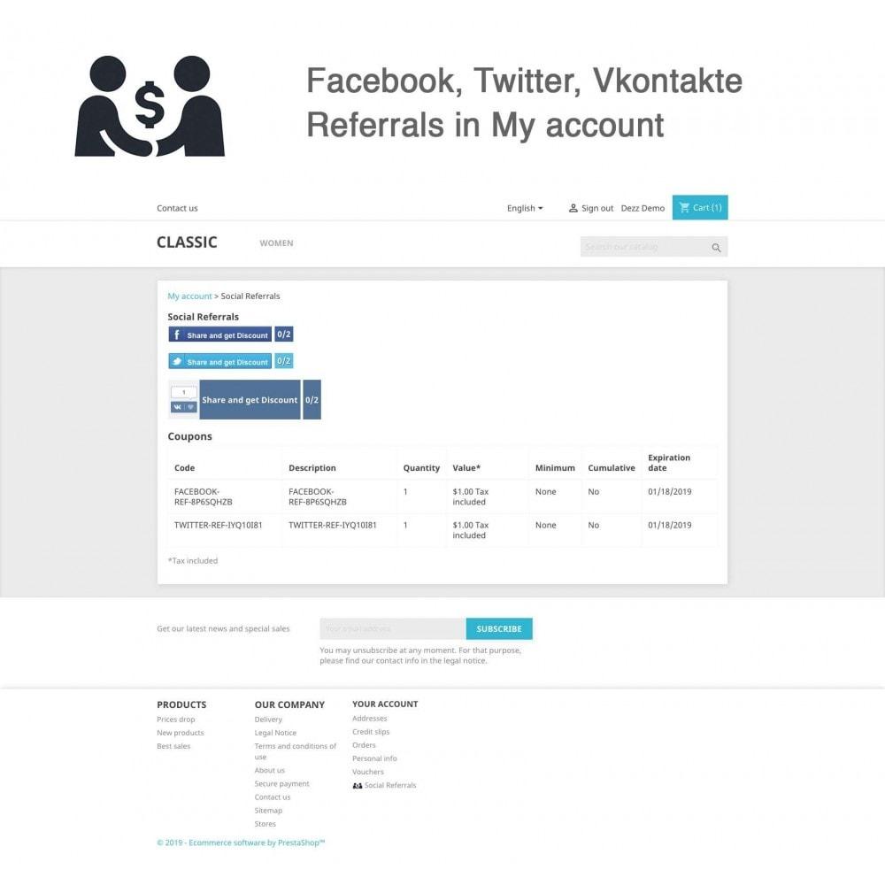 module - Cupons de desconto de redes sociais - Social Referrals (3 in 1) - 5
