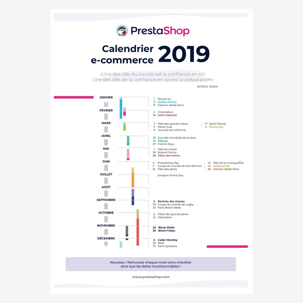 other - eCommerce Kalender - France 2019 eCommerce Calendar - 1