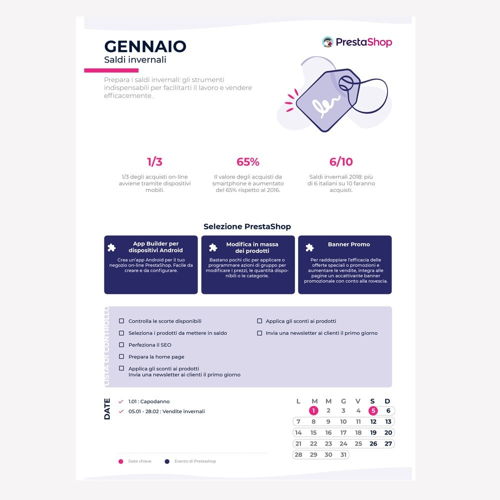 other - Kalender e-commerce - Italian 2019 eCommerce Calendar - 2