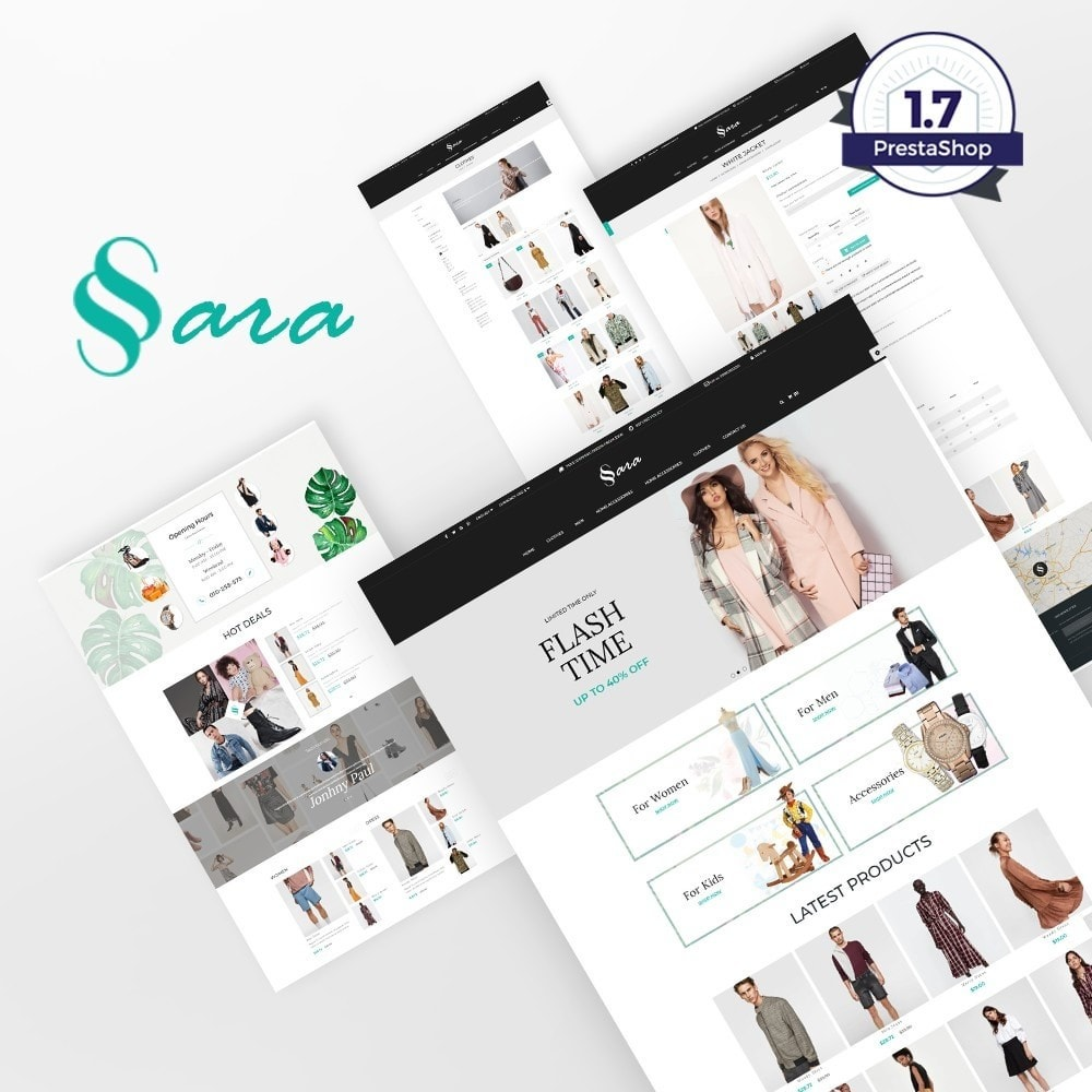 theme - Мода и обувь - Sara Fashion Cloth Store - 1