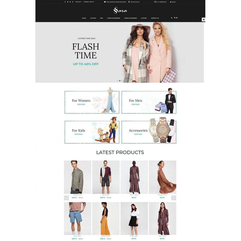theme - Мода и обувь - Sara Fashion Cloth Store - 2
