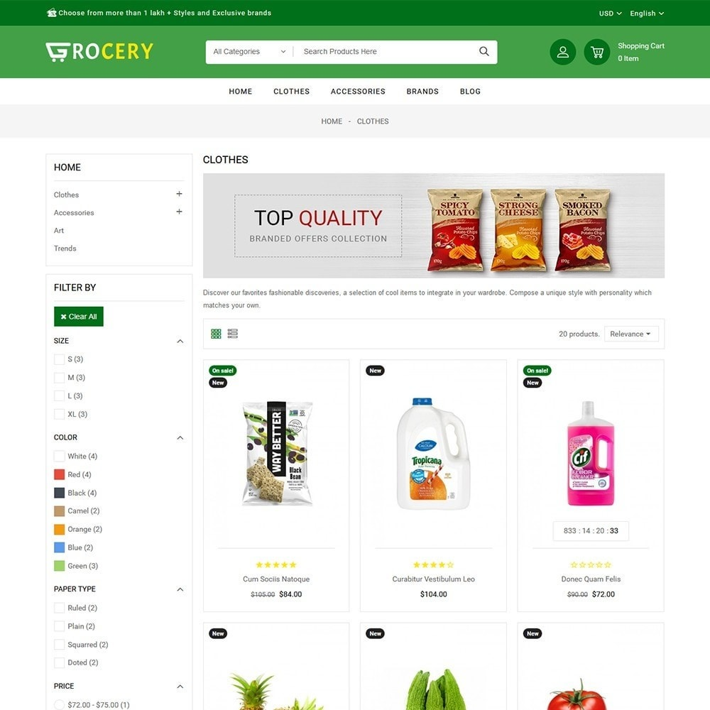 theme - Żywność & Restauracje - Grocery Store - 3