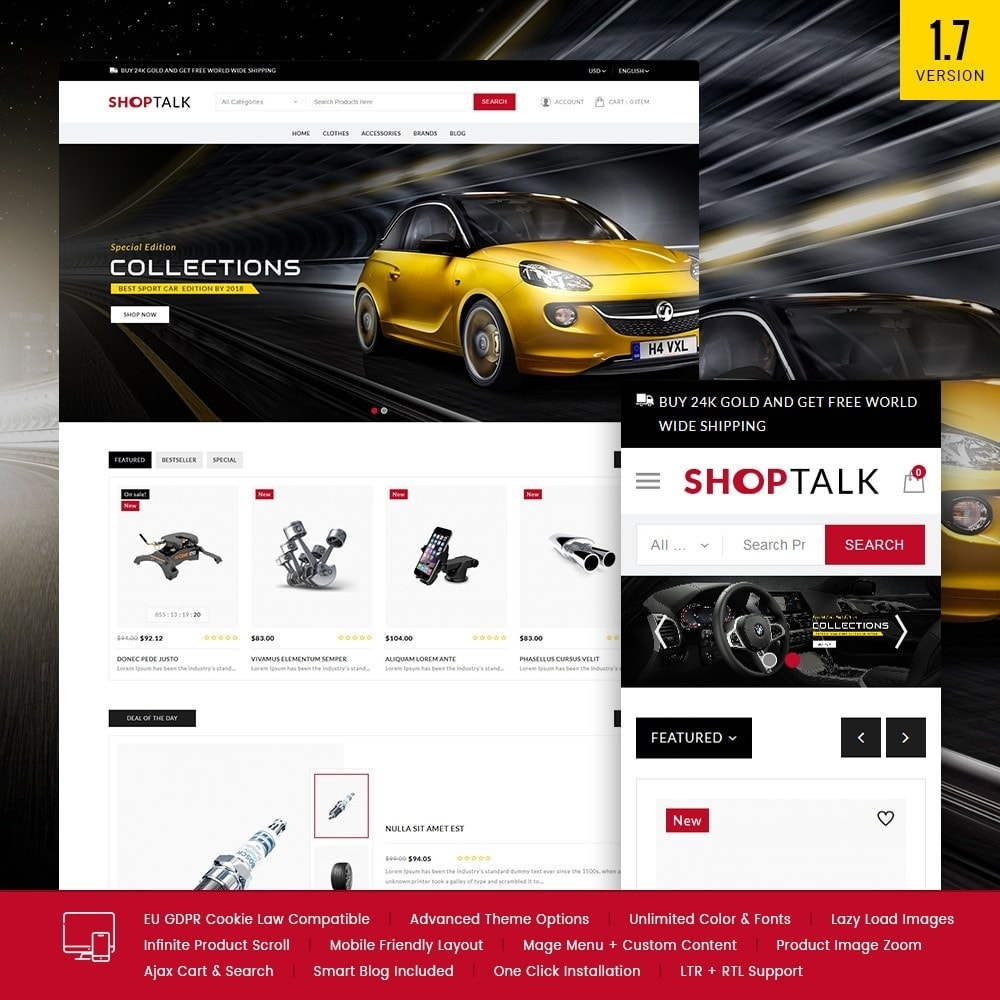 theme - Carros & Motos - ShopTalk Auto-parts Store - 1