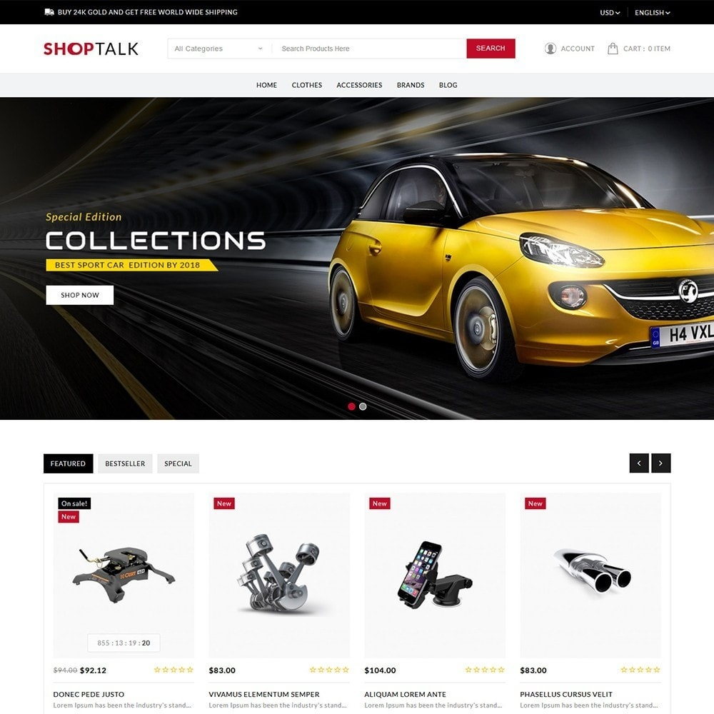theme - Carros & Motos - ShopTalk Auto-parts Store - 2
