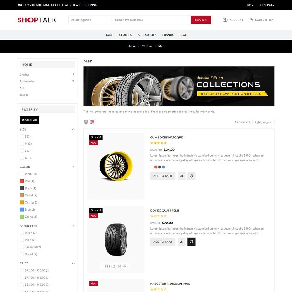 theme - Carros & Motos - ShopTalk Auto-parts Store - 5