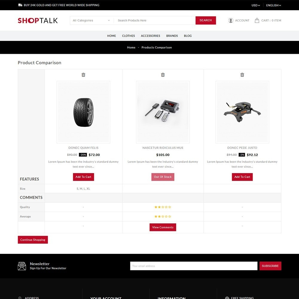 theme - Carros & Motos - ShopTalk Auto-parts Store - 8