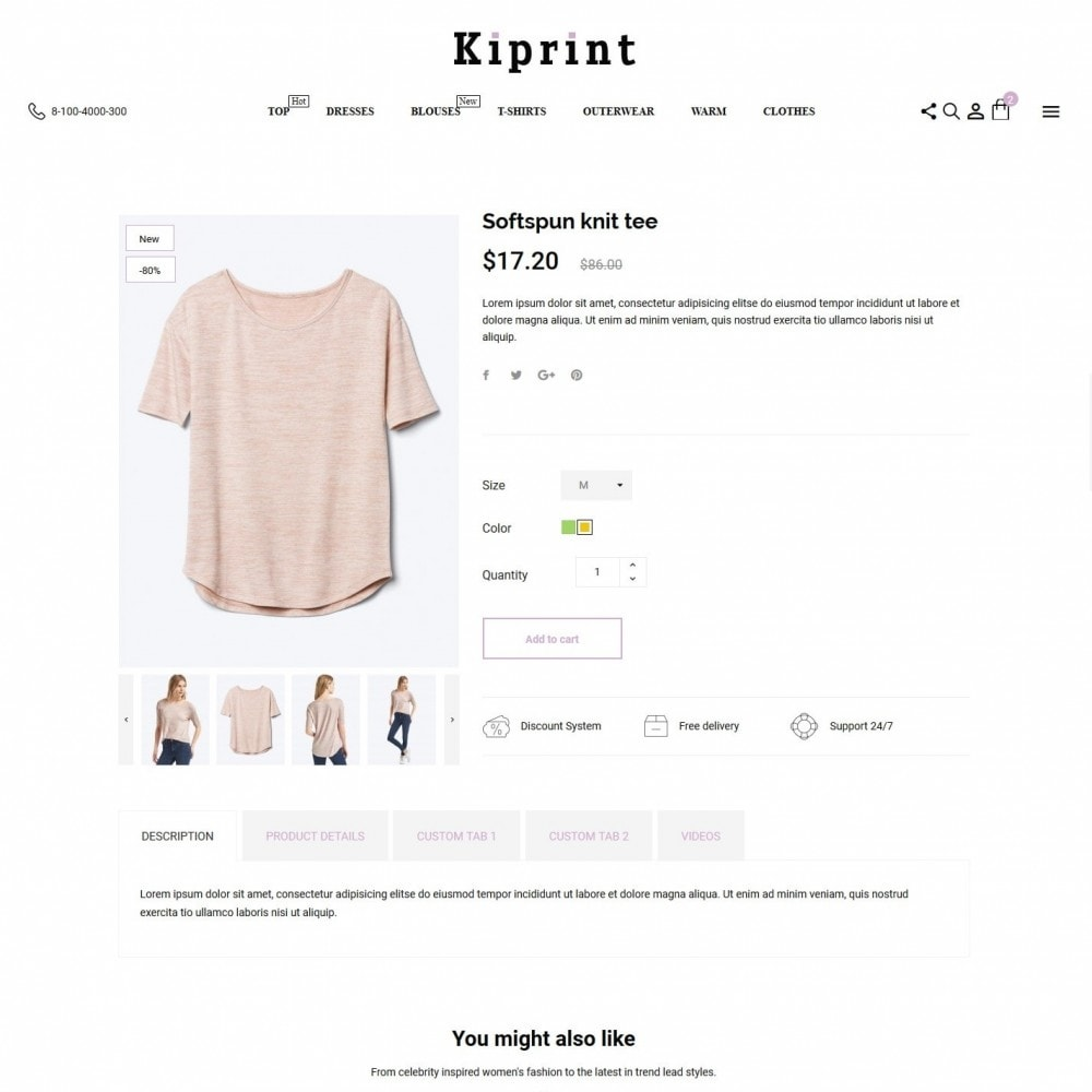 theme - Fashion & Shoes - Kiprint Fashion Store - 6
