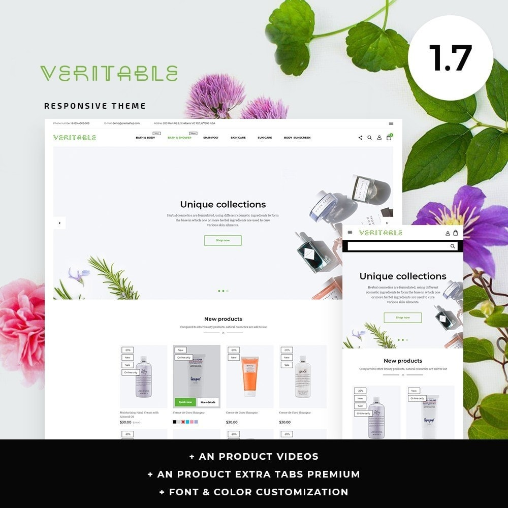 theme - Health & Beauty - Veritable Cosmetics - 1