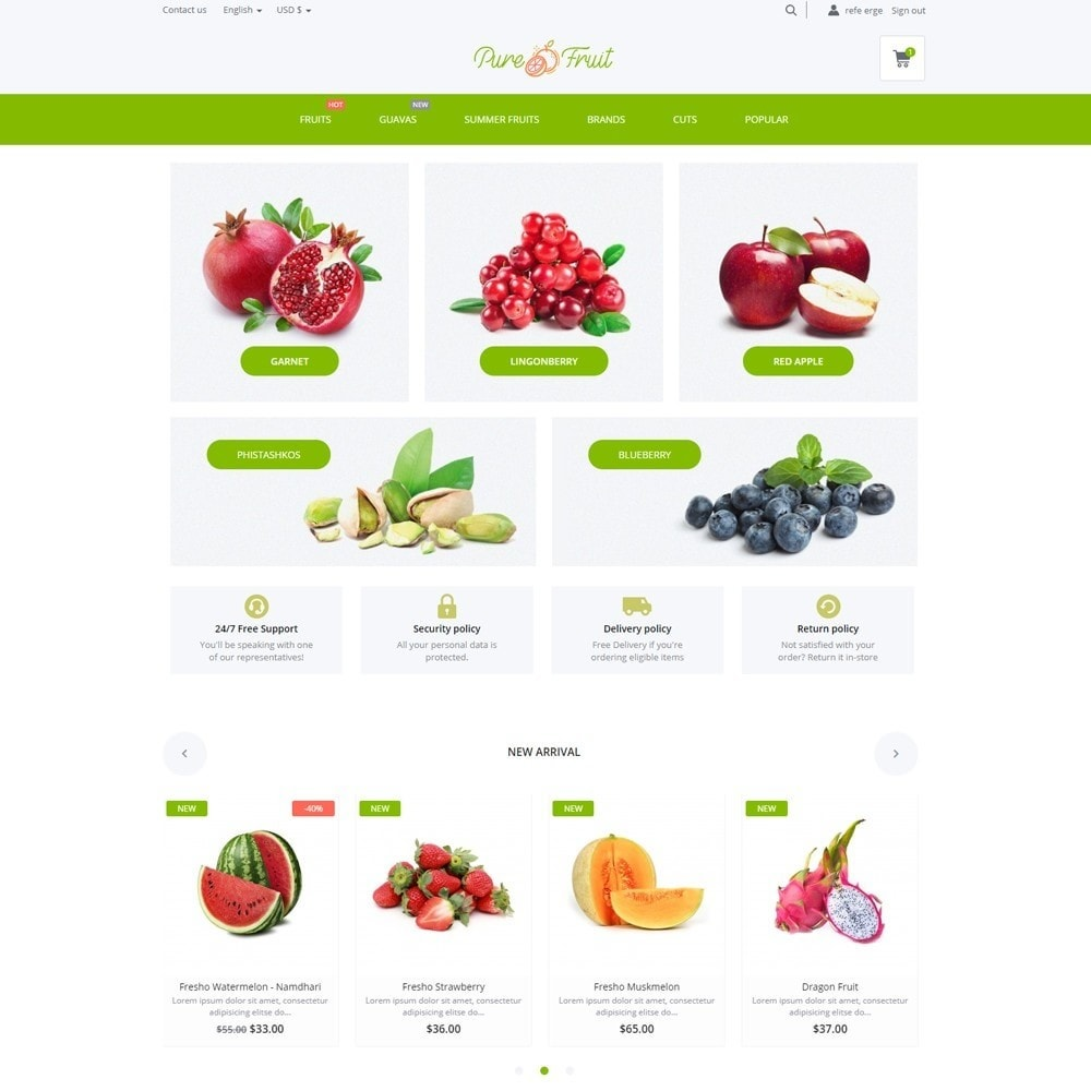 theme - Food & Restaurant - Pure Fruit - 2