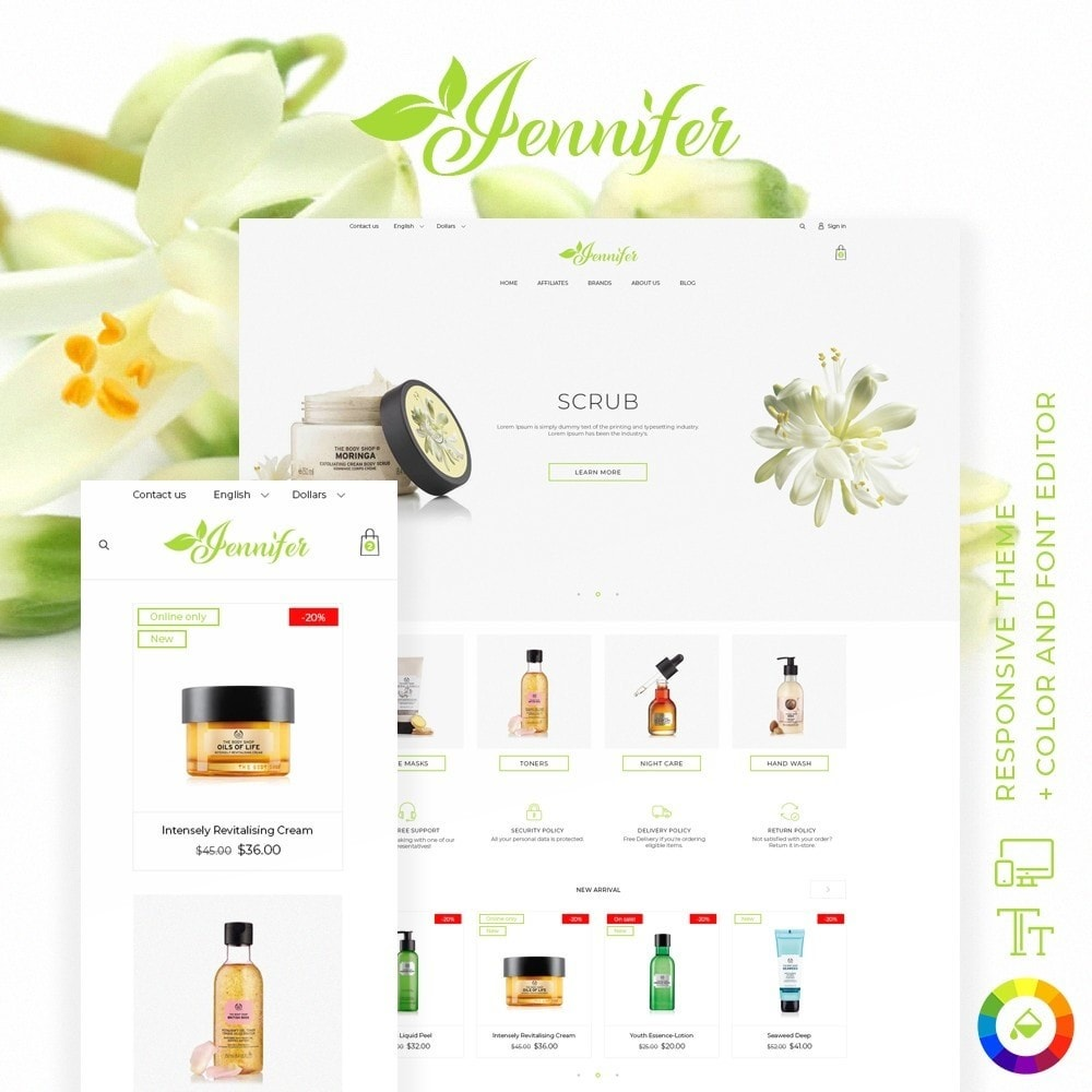 theme - Health & Beauty - Jennifer Cosmetics - 1