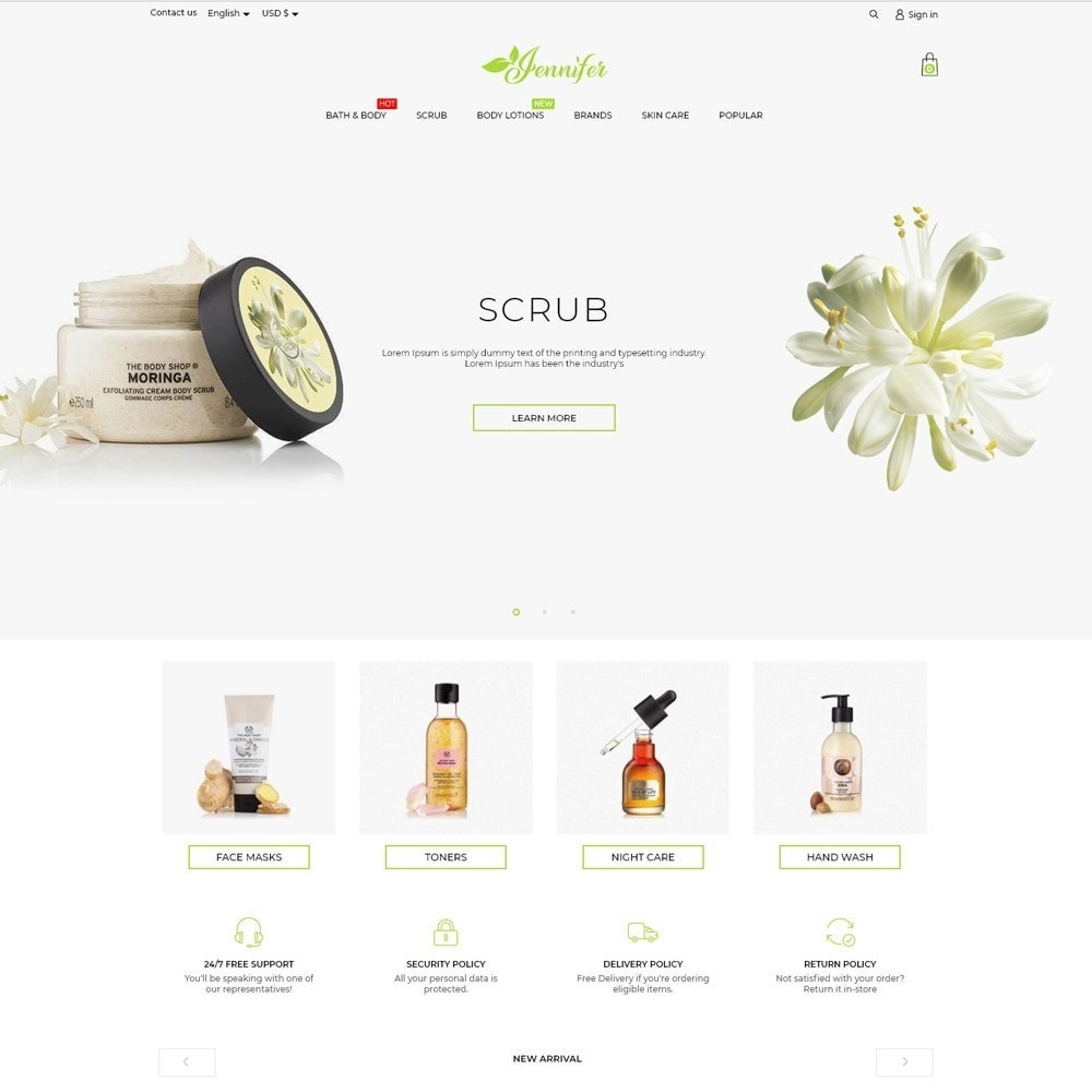 theme - Health & Beauty - Jennifer Cosmetics - 2
