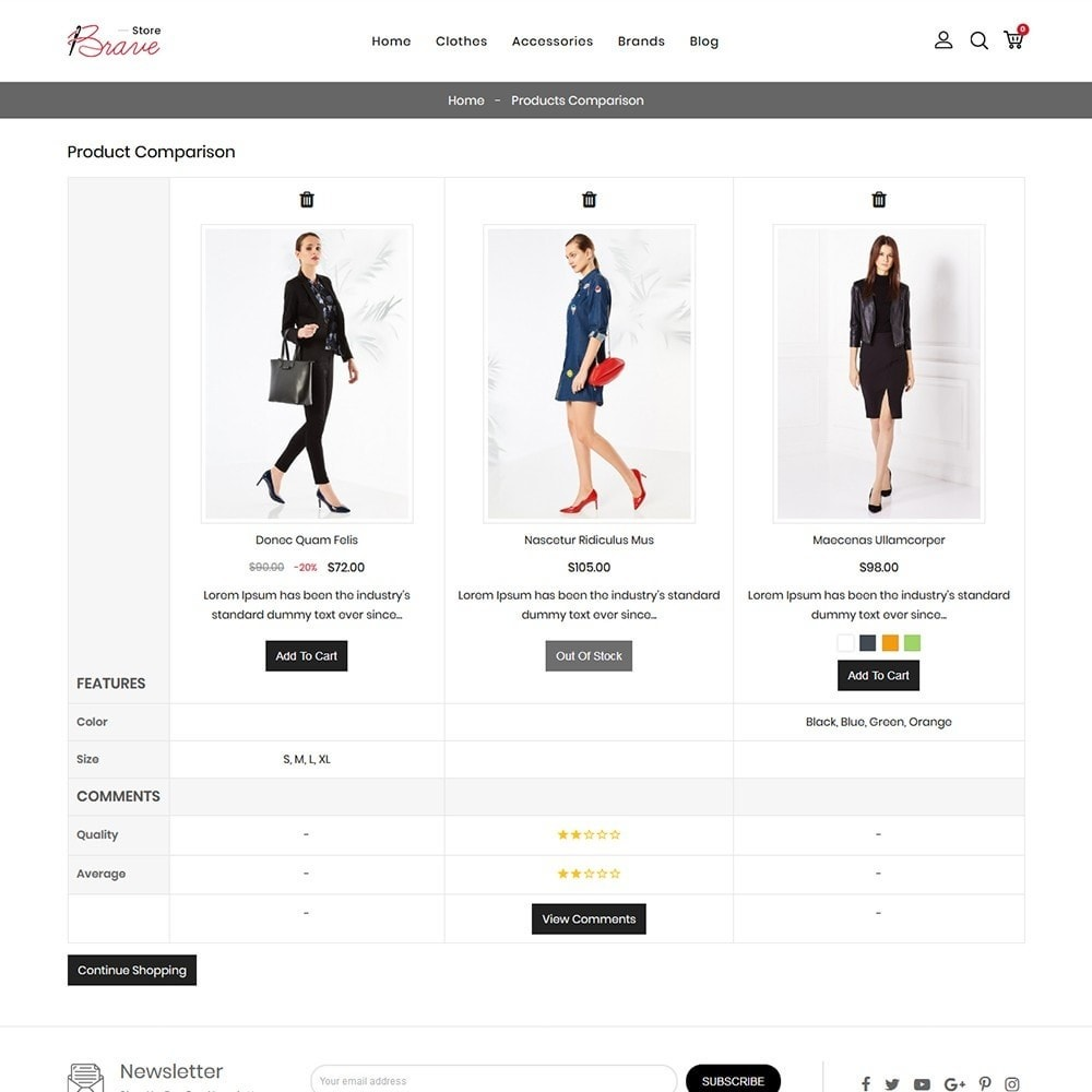 theme - Mode & Chaussures - Brave Fashion Store - 8