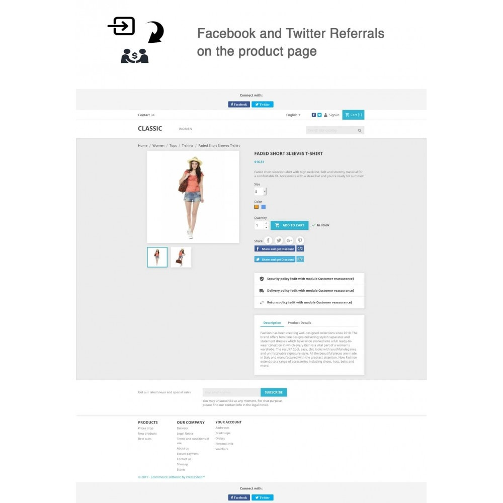 module - Descuentos en redes sociales - Social Referrals + Connects (2 in 1) - 1