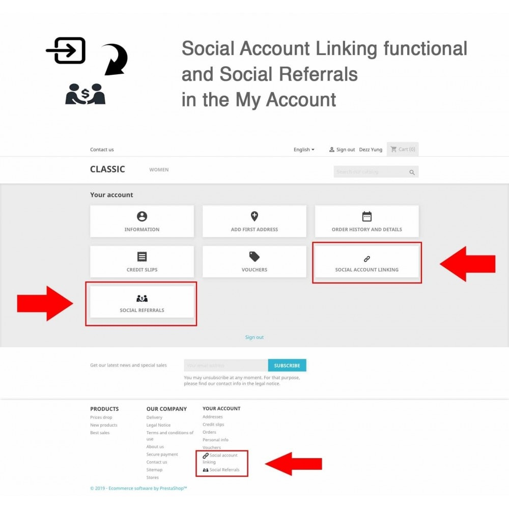 module - Descuentos en redes sociales - Social Referrals + Connects (2 in 1) - 10