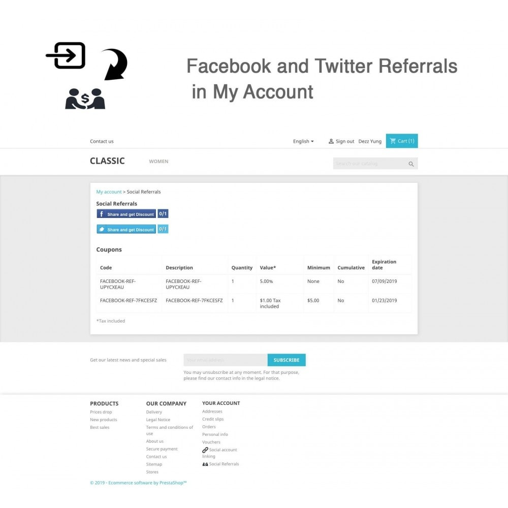 module - Descuentos en redes sociales - Social Referrals + Connects (2 in 1) - 12